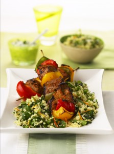 Lamb Kebabs with Orange & Watercress Couscous HR 5(2005)